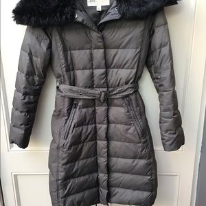 London Fog puffy coat with Faux fur Collar